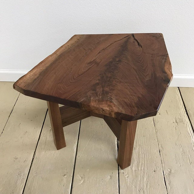 This is a custom one of a kind solid California walnut stool that was made locally in Humboldt County, CA. It has a...