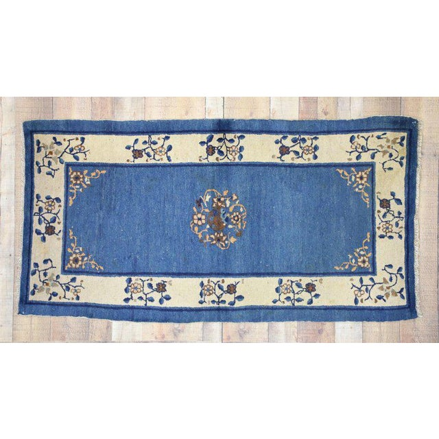 """Asian Early 20th Century Antique Chinese Peking Accent Rug - 3'00"""" × 5′9″ For Sale - Image 3 of 8"""