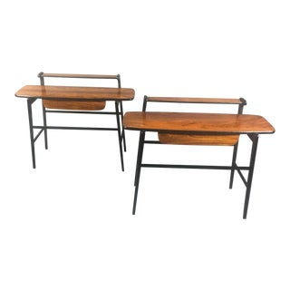 1970s Italian Rosewood End Tables - a Pair For Sale