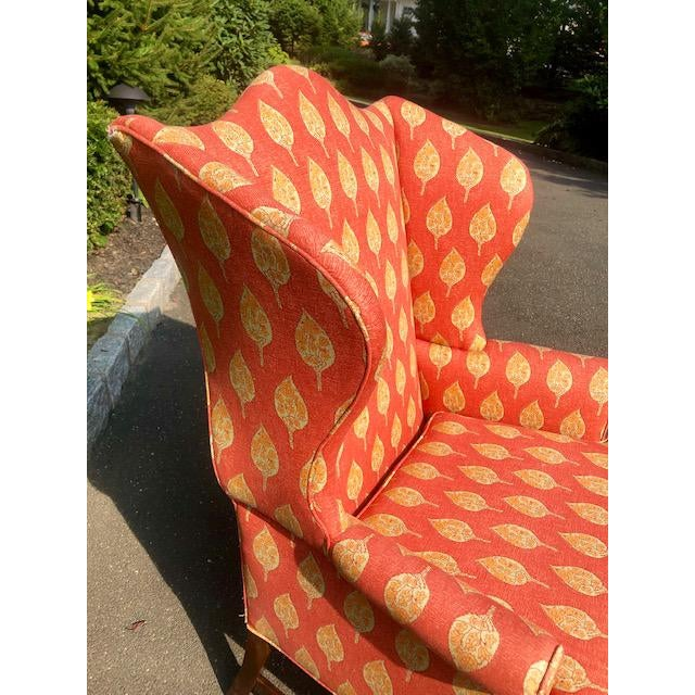 Red 1980s Vintage Kittinger Colonial Williamsburg Wingback Chair For Sale - Image 8 of 10