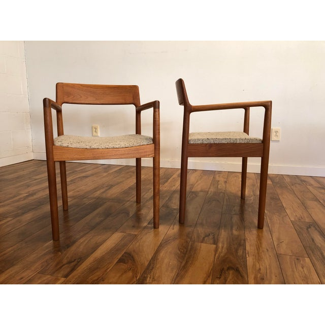 Norgaard Mobelfabrik Mid-Century Norgaard Teak Arm Chairs, Made in Denmark, a Pair For Sale - Image 4 of 13