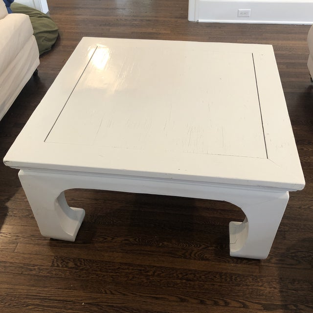 Asian Chinoiserie Lacquered Coffee Table For Sale - Image 3 of 4