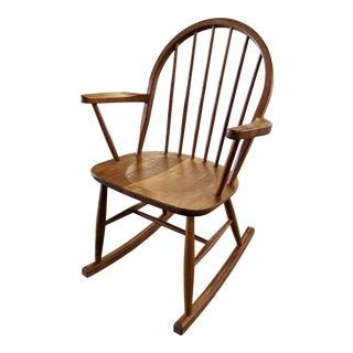 Modern Danish Teak Rocking Chair For Sale