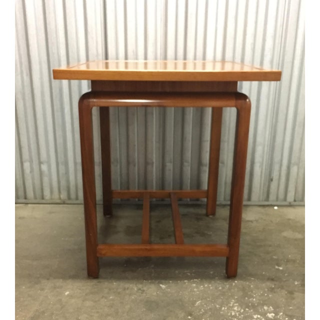 Brown Risom Style Floating Top Side Table For Sale - Image 8 of 10