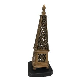 Pierced Brass Obelisk