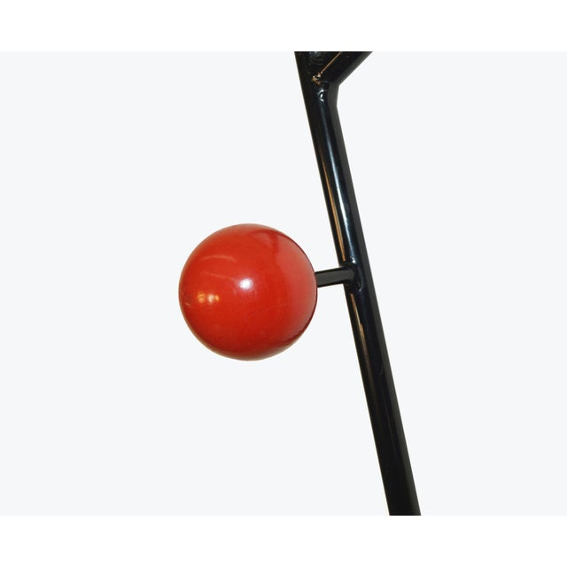 Danish Modern Vintage French Wall Mounted Coat Rack For Sale - Image 3 of 6