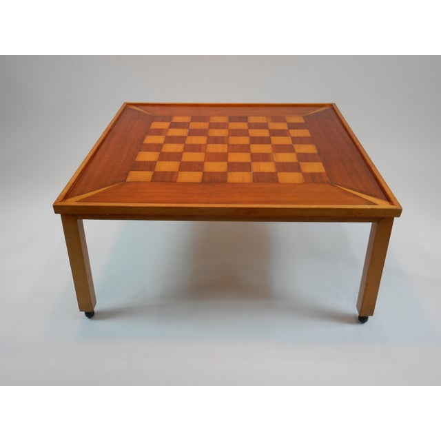 Mahogany Vintage Mid-Century Modern Chess / Game Table by Lane For Sale - Image 7 of 11
