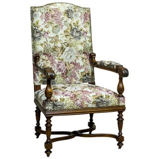 French Armchair/Throne from the Turn of the 19th-20th Century For Sale