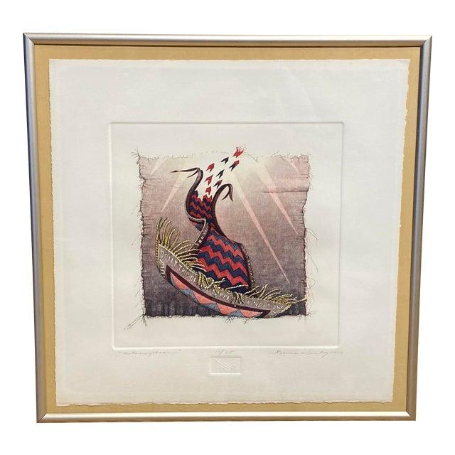 """Metamorphosis"" Etching by Bruce Weinburg For Sale"