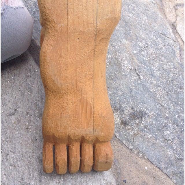 Vintage Large Carved Wood Foot For Sale - Image 4 of 4