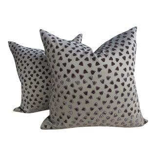 Rubelli Kiki Cut Velvet Pillows - a Pair For Sale