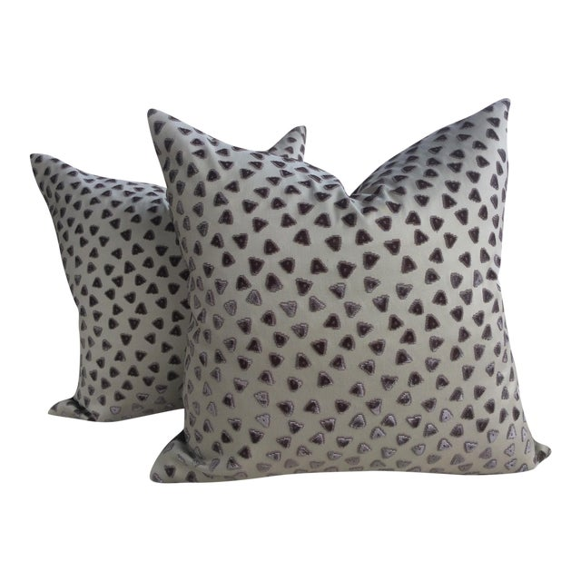 Rubelli Kiki Cut Velvet Pillows - a Pair For Sale