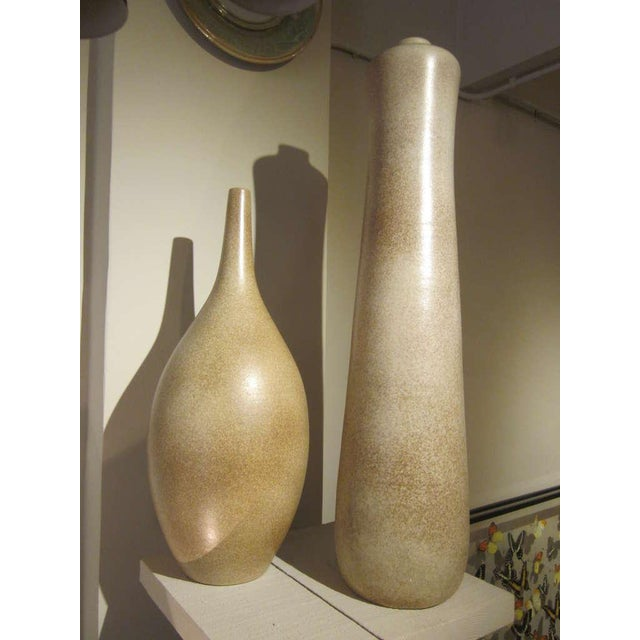 Exceptional 2 Very Large French Mid Century Modern Sculptural Vases