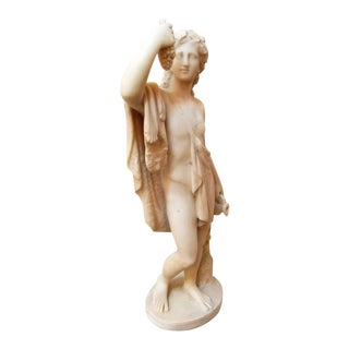 19th Century Neoclassical Marble Bacchus Sculpture For Sale