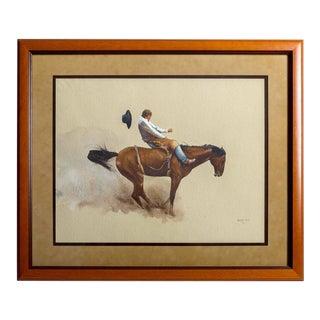 John Fawcett 'Pile Driver' Watercolor For Sale