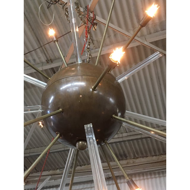 Mid-Century Modern Fabulous Copper & Glass Rod Sputnik Chandelier For Sale - Image 3 of 5