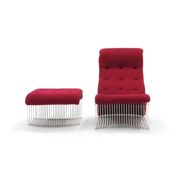 Mid-Century Modern Pantonova Chaise or Chair and Ottoman by Verner Panton, Fine and Rare Example For Sale - Image 3 of 9