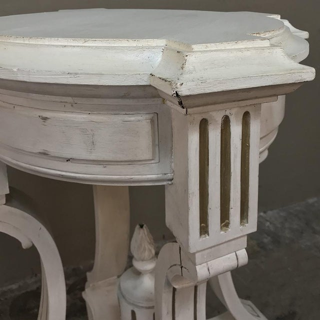 19th Century French Henri II Painted Lamp Table ~ Pedestal For Sale In Dallas - Image 6 of 11