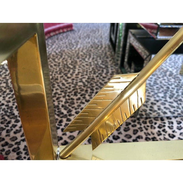 Glimmering Show Stealer Heavy Brass Neoclassical Armchairs by Mastercraft For Sale - Image 10 of 12