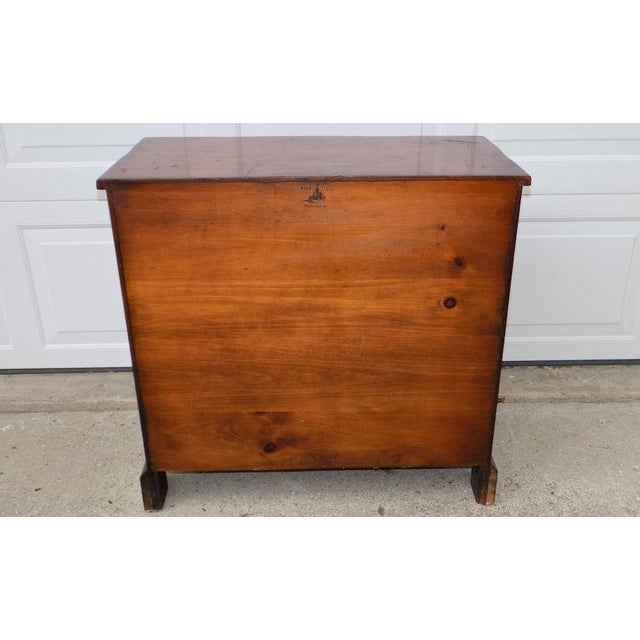 Brown 1950s Vintage Pine Tique 3-Drawer Bachelors Chest For Sale - Image 8 of 11