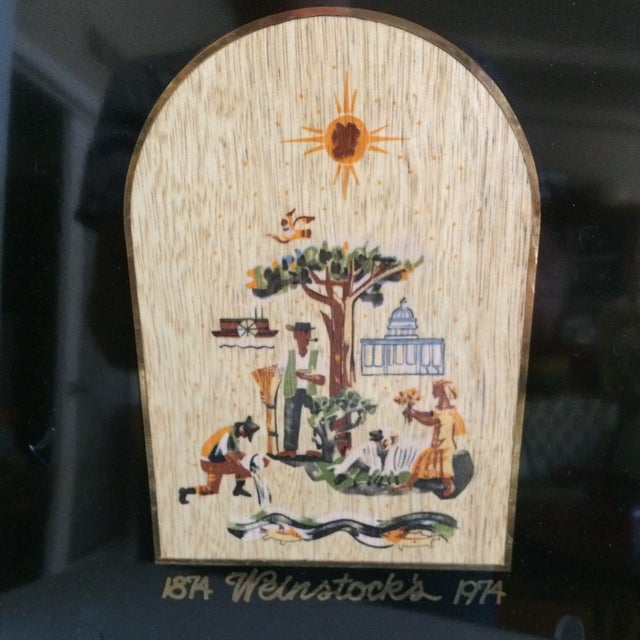 Traditional Special Vintage Couroc of Monterey Centennial Weinstocks Serving Tray For Sale - Image 3 of 13