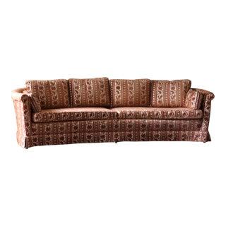 Vintage Curved Original Upholstery For Sale