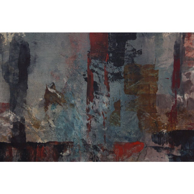Frank Edwin Larson Abstract Oil and Gouache on Canvas For Sale In New York - Image 6 of 9
