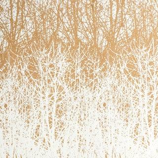 Schumacher x Vera Neumann Birches Wallpaper in Tan (9 Yards) For Sale