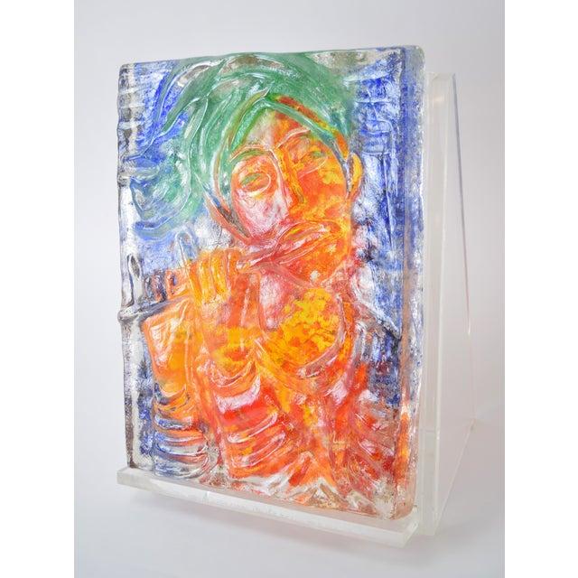 "Glass 1970s Vintage ""The Flutist"" Reuven Rubin & Egidio Constantini Art Glass Sculpture For Sale - Image 7 of 10"