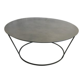 Modern Metal Coffee Table For Sale