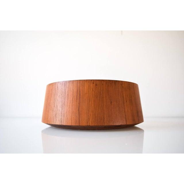 Danish Modern Large Danish Modern Wooden Dansk Teak Bowl For Sale - Image 3 of 6