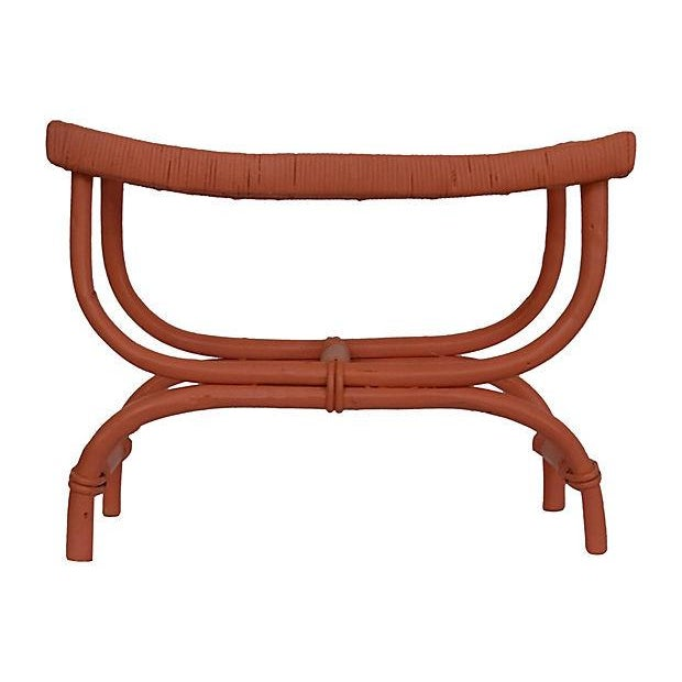 Coral Rattan Stool - Image 3 of 5
