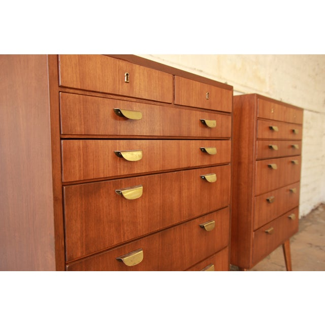 Brown Helmut Magg for Wk Möbel Bachelor Chest - One Available For Sale - Image 8 of 10