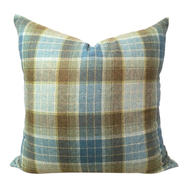 Tartan Plaid Wool Pillow Cover - Image 1 of 3