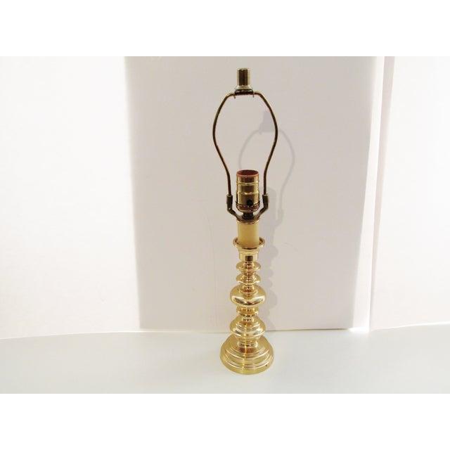 Vintage Berman Brass Candlestick Lamp - Image 2 of 7