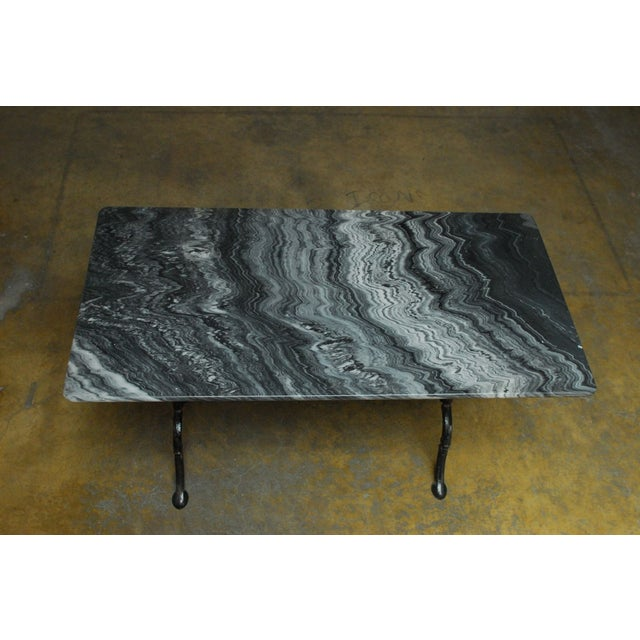 French Marble Bistro Table - Image 3 of 7