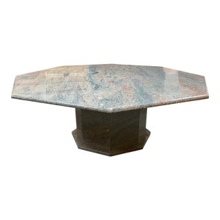 Granite Octagonal Coffee Table For Sale