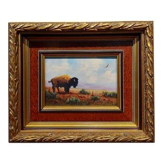 Heinie Hartwig - American Buffalo - Oil Painting For Sale