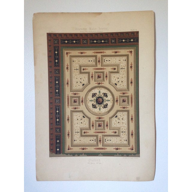 German Decorative Ceiling Print - Image 2 of 5