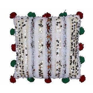 Moroccan Berber Pom-Pom Pillow I For Sale