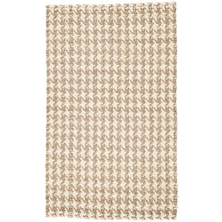 Jaipur Living Tracie Natural Geometric White & Taupe Area Rug - 5' X 8' For Sale