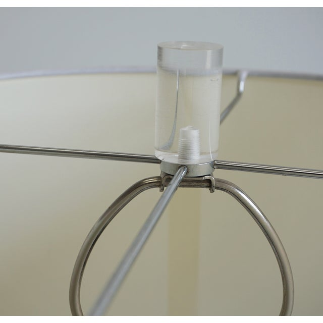 Acrylic Dorothy Thorpe Lucite Pretzel Lamps - A Pair For Sale - Image 7 of 8