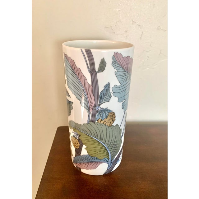 Rare large Rosenthal Studio Line botanical vase with stunning gilt detailing.