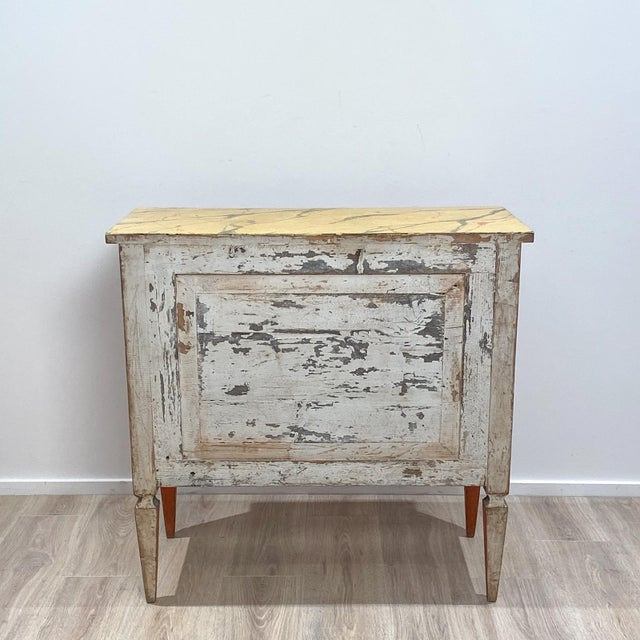 Italian 19th Century Painted Chest of Drawers, Italy For Sale - Image 3 of 8