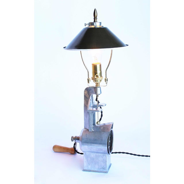 1950s Vintage Cheese Grater Lamp - Image 4 of 4