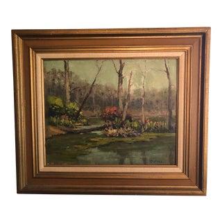 Modern Impressionistic Landscape Painting by John Dahl For Sale