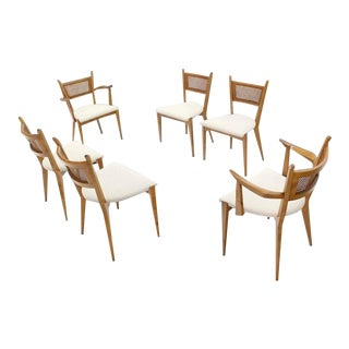 Mid-Century Edmund Spence Swedish Modern Dining Chair Set of 6 For Sale
