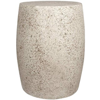 Cast Resin 'Barrel' Side Table in Natural Stone Finish by Zachary A. Design For Sale