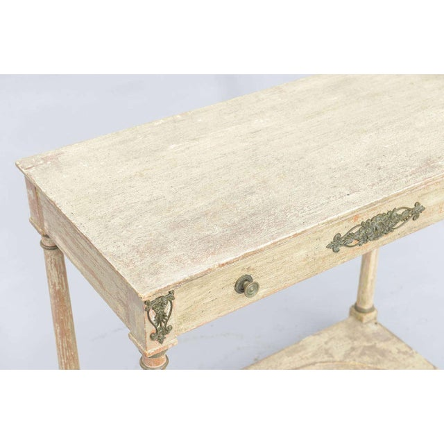 Painted French Empire Console Table For Sale - Image 10 of 11