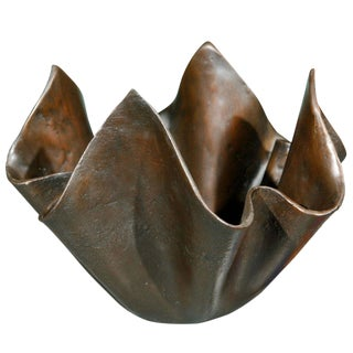 Small Bronze Handkerchief Planter For Sale